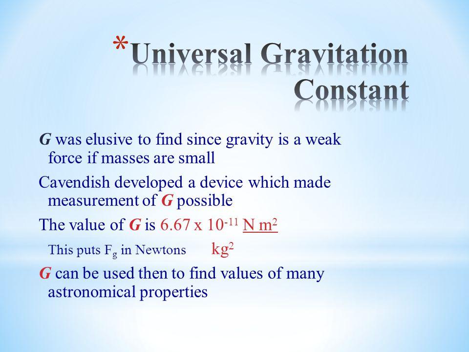 Universal Gravitation Constant