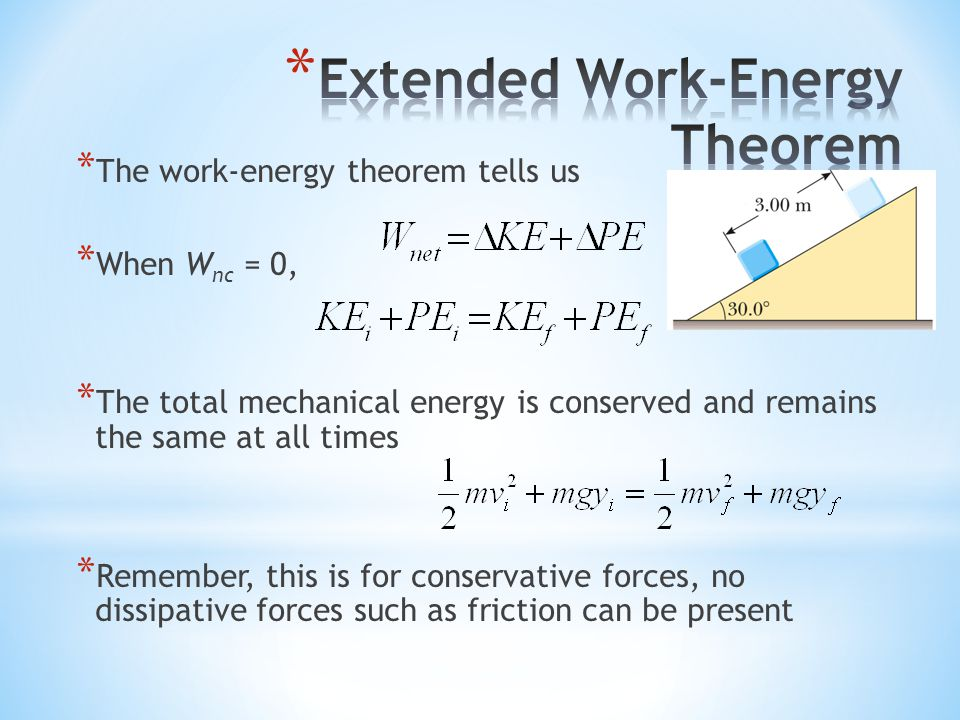 Extended Work-Energy Theorem