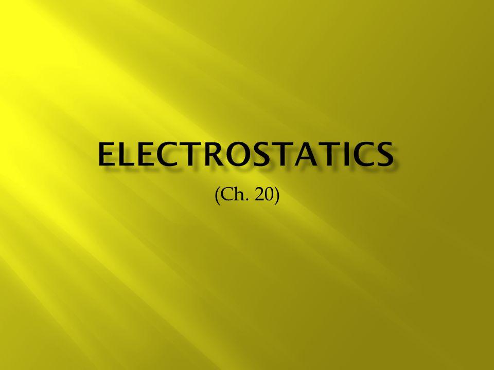 Electrostatics (Ch. 20)