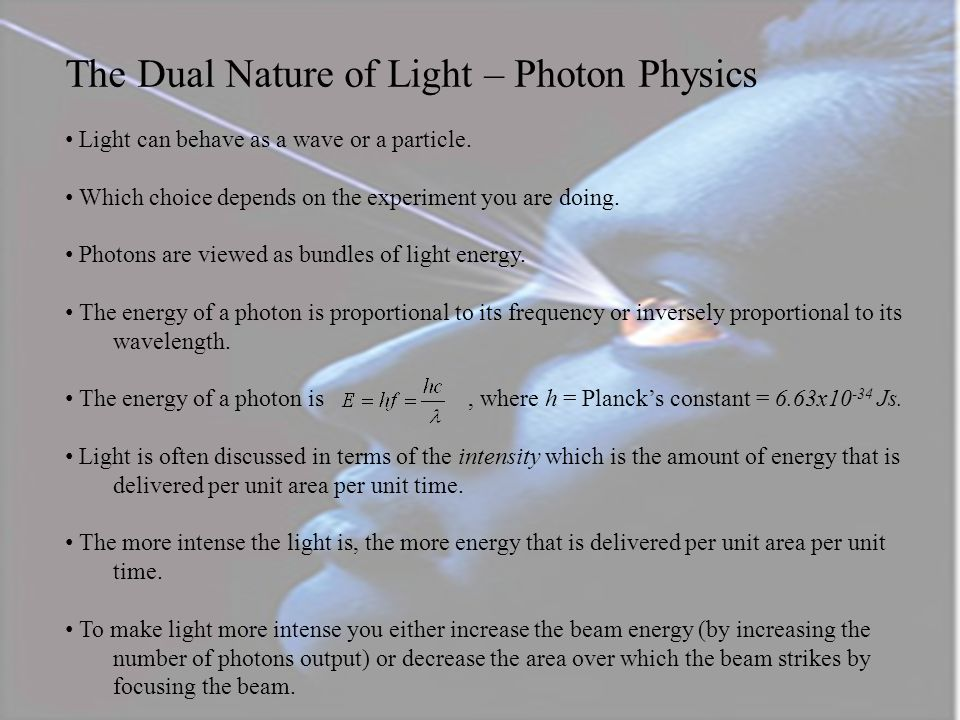 The Dual Nature of Light – Photon Physics