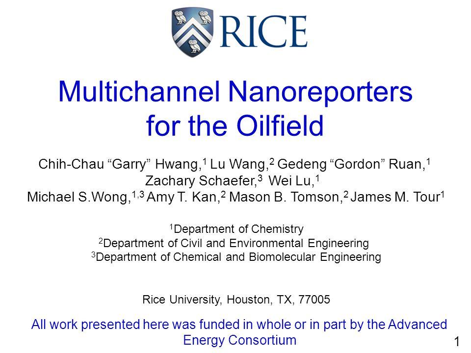 Multichannel Nanoreporters for the Oilfield