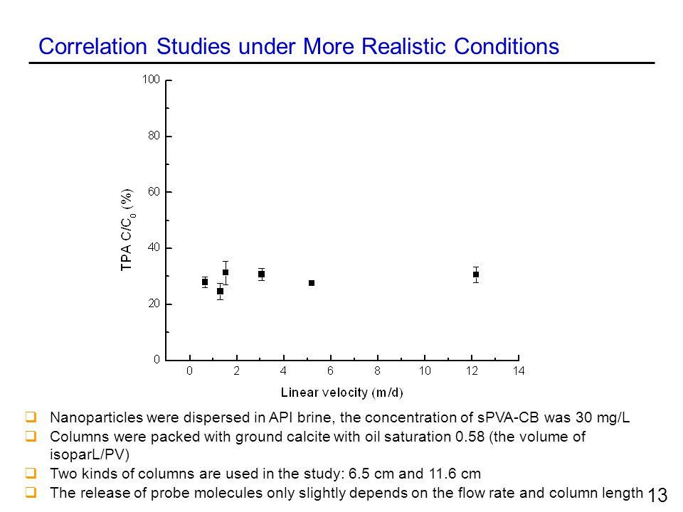 Correlation Studies under More Realistic Conditions