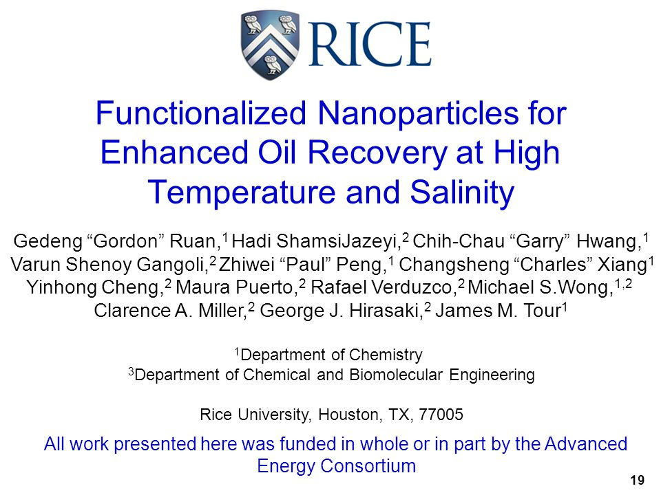 Functionalized Nanoparticles for Enhanced Oil Recovery at High Temperature and Salinity