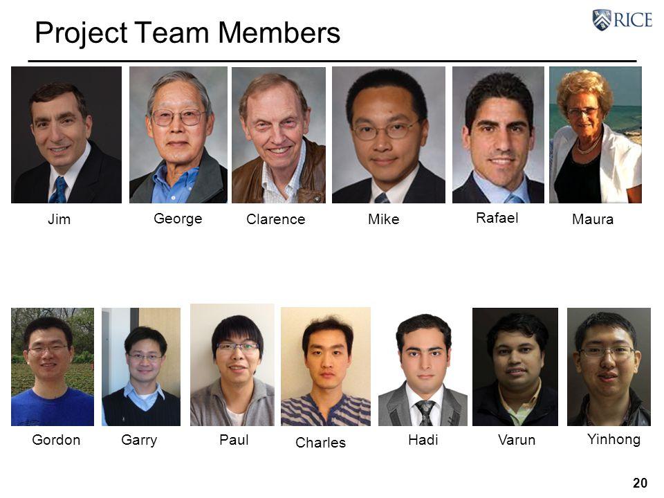 Project Team Members George Jim Clarence Mike Maura Rafael Gordon