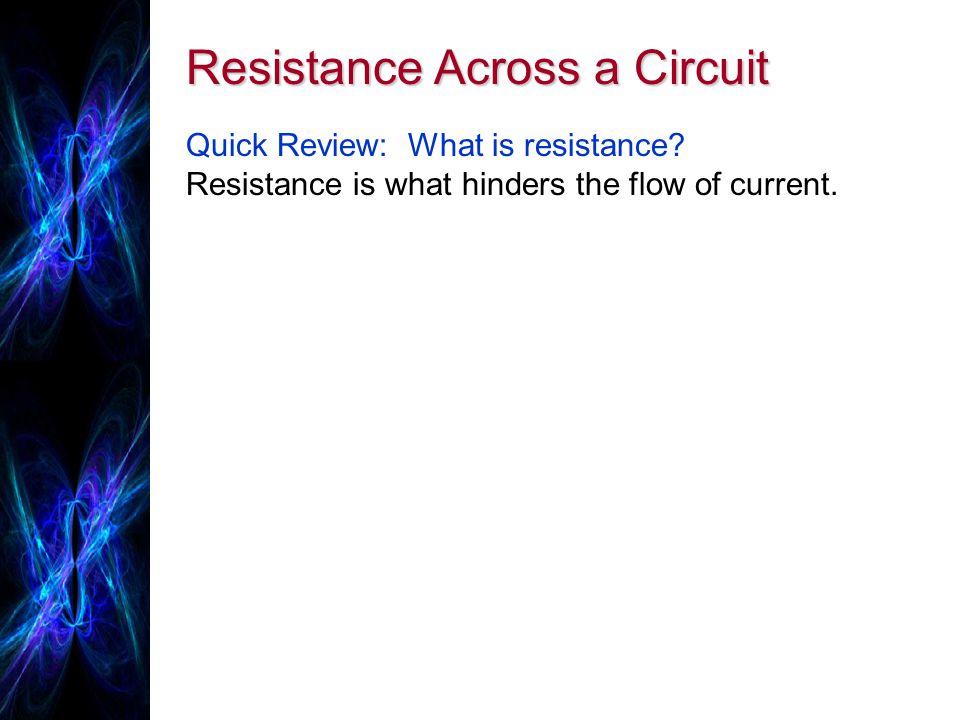 Resistance Across a Circuit