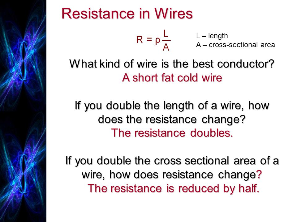 Resistance in Wires What kind of wire is the best conductor