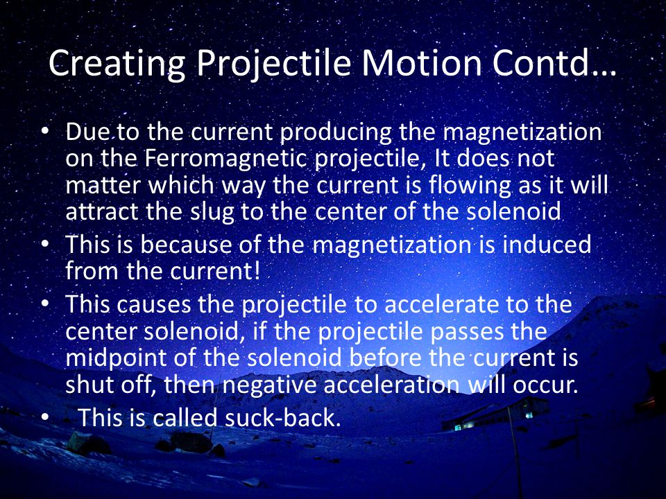 Creating Projectile Motion Contd…