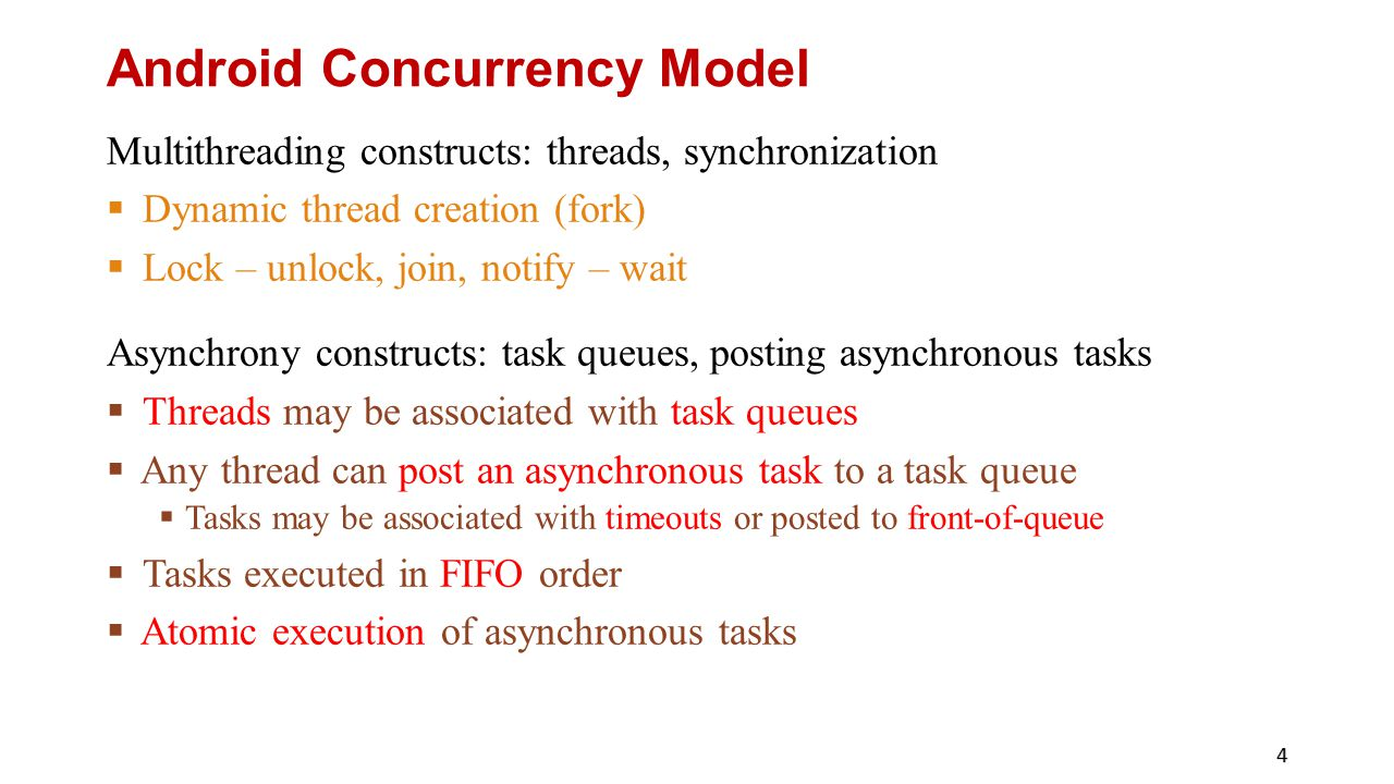 Android Concurrency Model