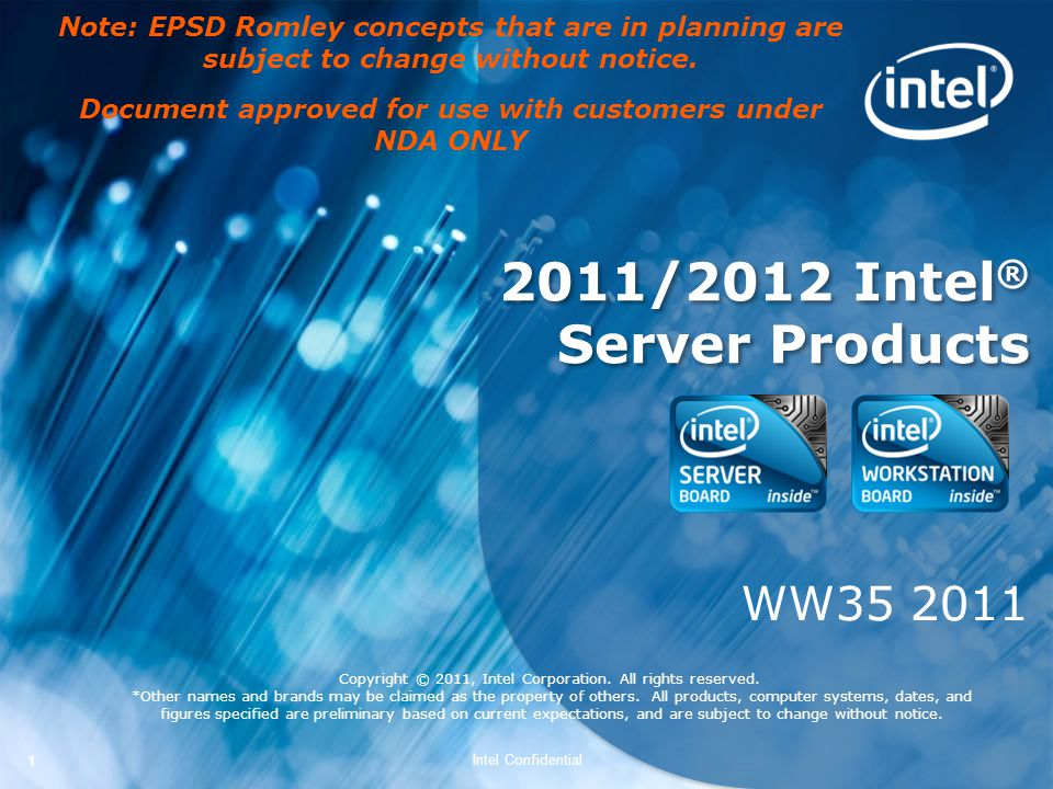 2011/2012 Intel® Server Products