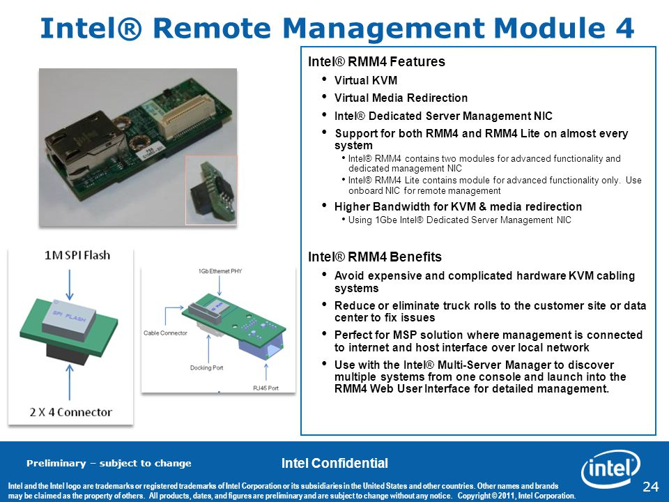 Intel® Remote Management Module 4