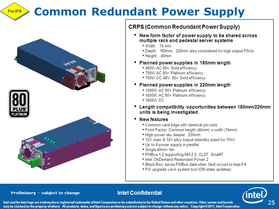Common Redundant Power Supply