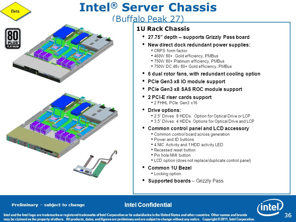 Intel® Server Chassis (Buffalo Peak 27)