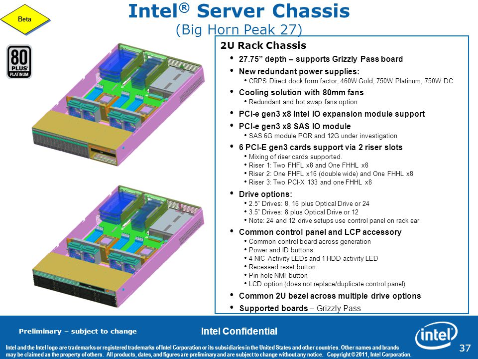 Intel® Server Chassis (Big Horn Peak 27)
