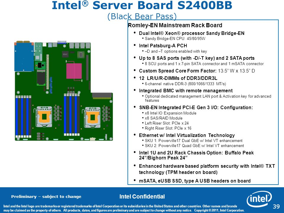 Intel® Server Board S2400BB