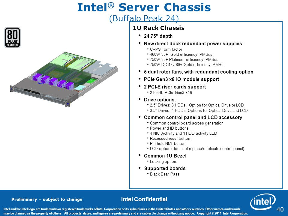 Intel® Server Chassis (Buffalo Peak 24)