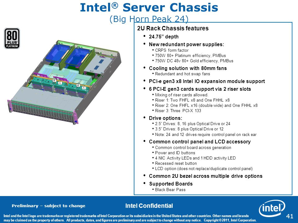 Intel® Server Chassis (Big Horn Peak 24)