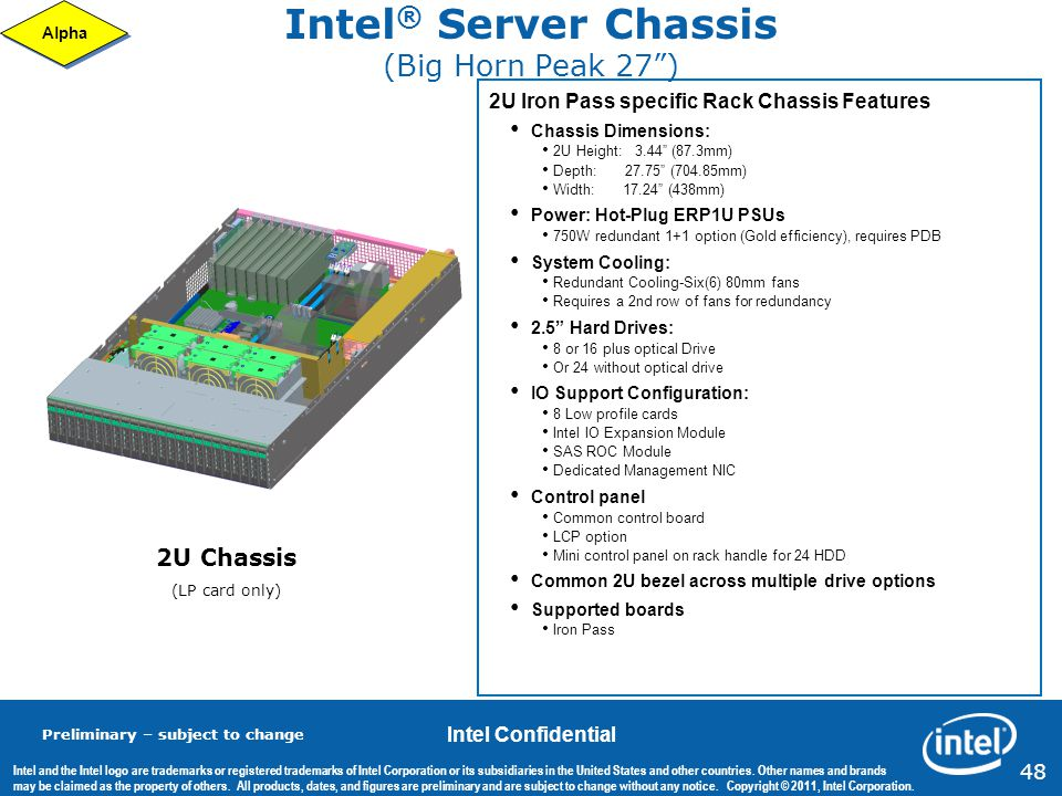 Intel® Server Chassis (Big Horn Peak 27 )