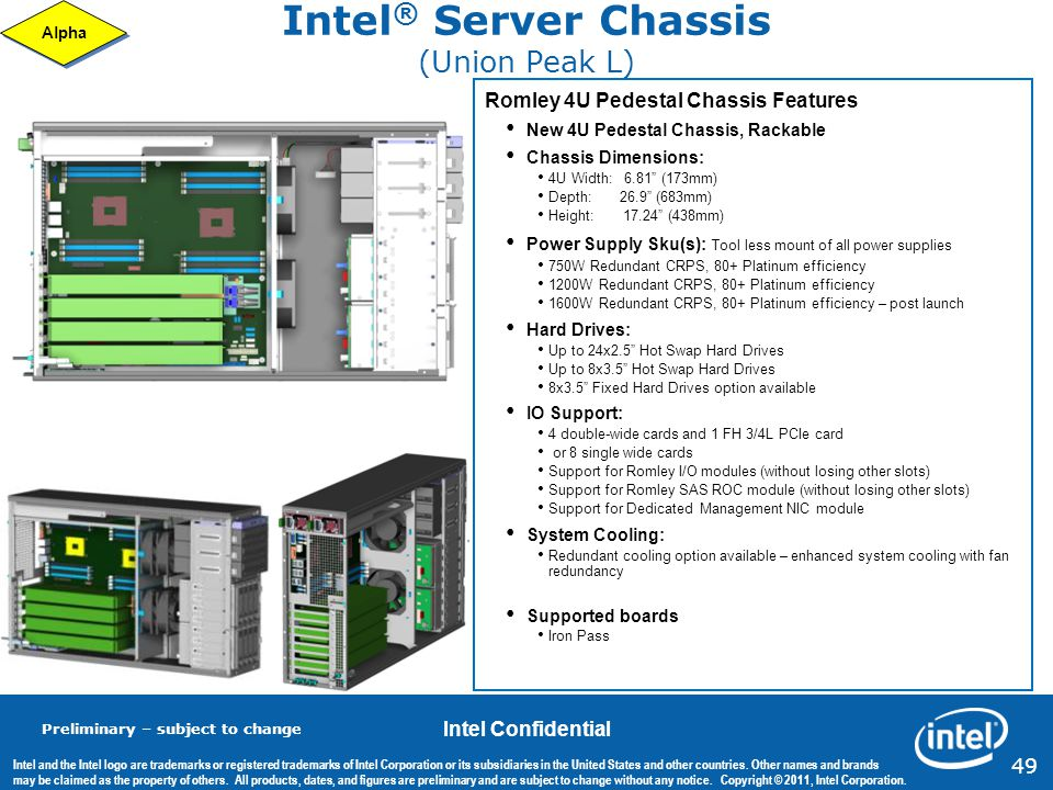 Intel® Server Chassis (Union Peak L)