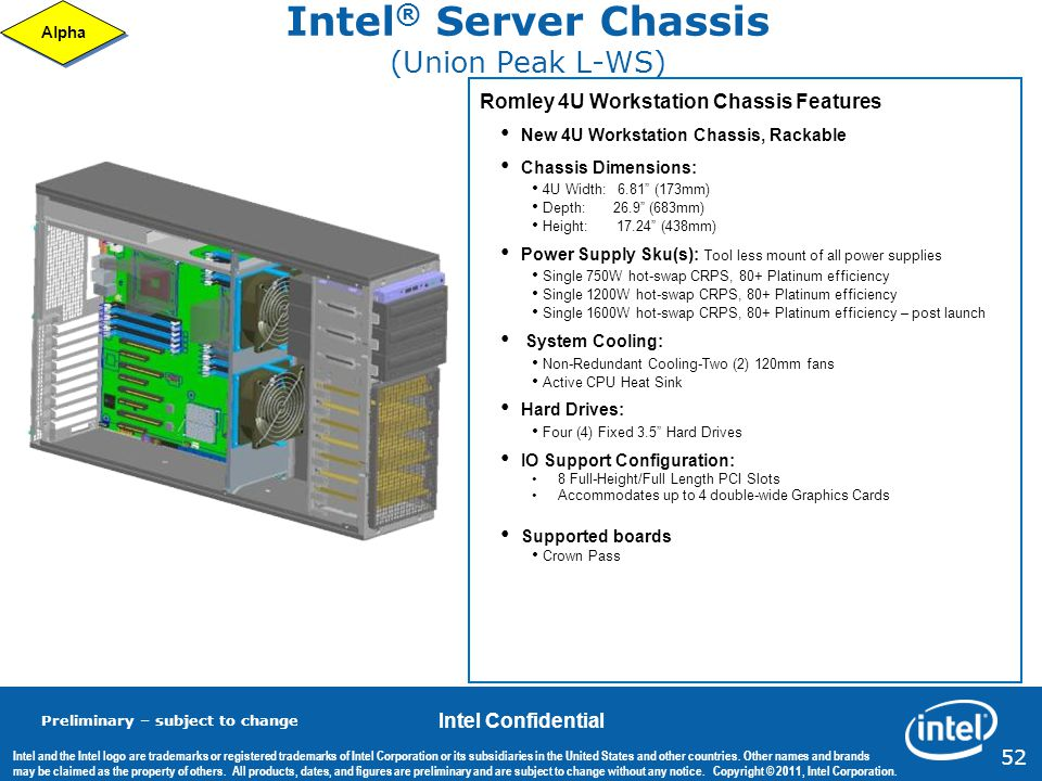 Intel® Server Chassis (Union Peak L-WS)