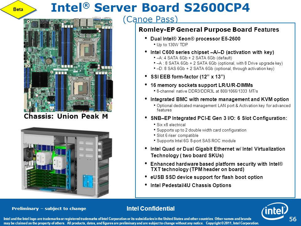 Intel® Server Board S2600CP4 (Canoe Pass)