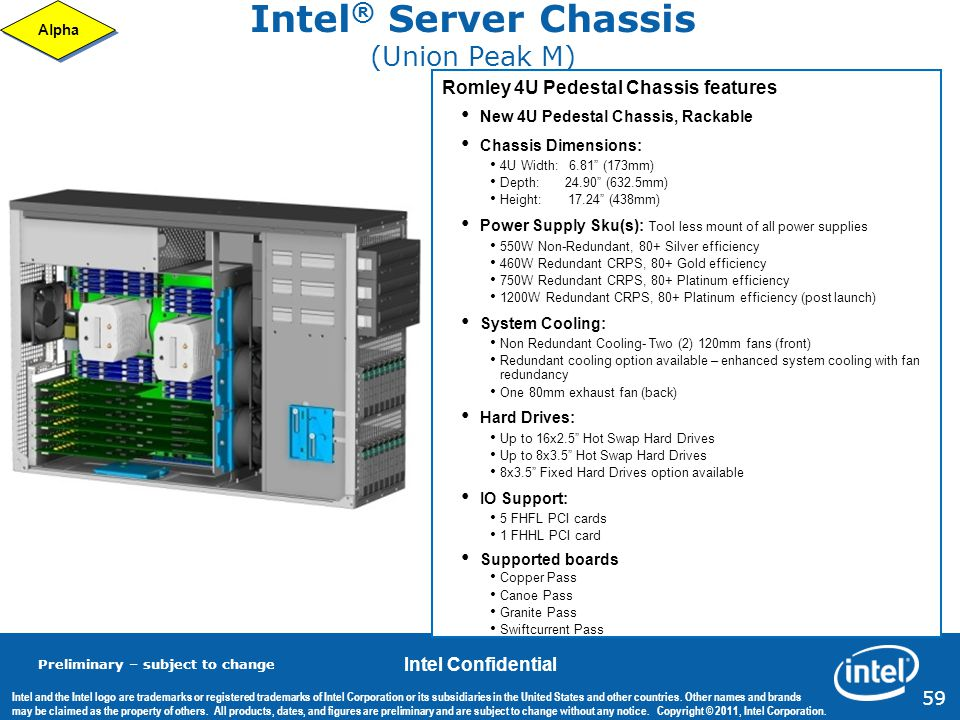 Intel® Server Chassis (Union Peak M)