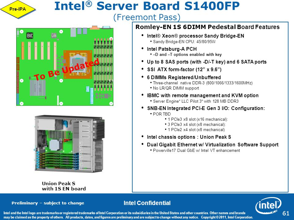 Intel® Server Board S1400FP (Freemont Pass)