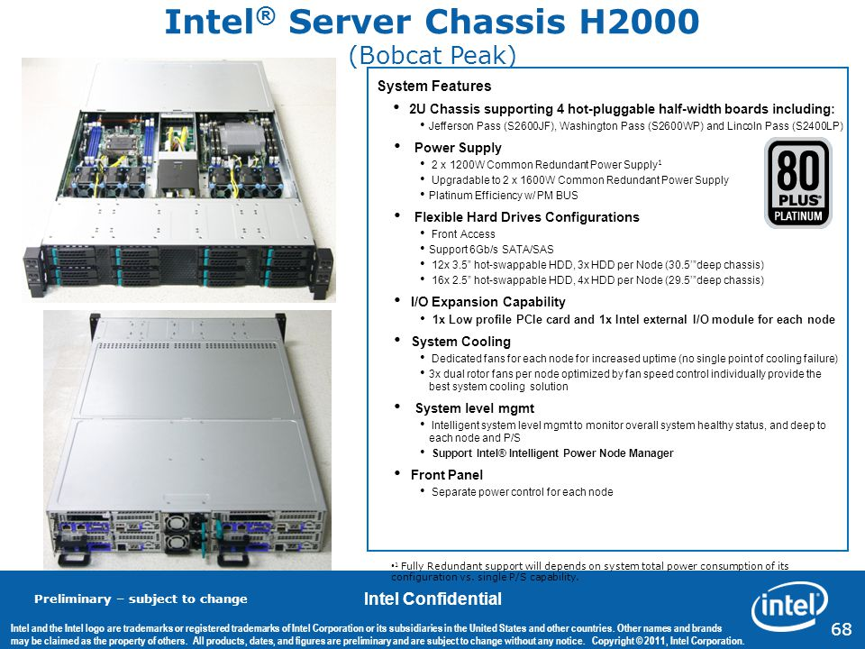 Intel® Server Chassis H2000