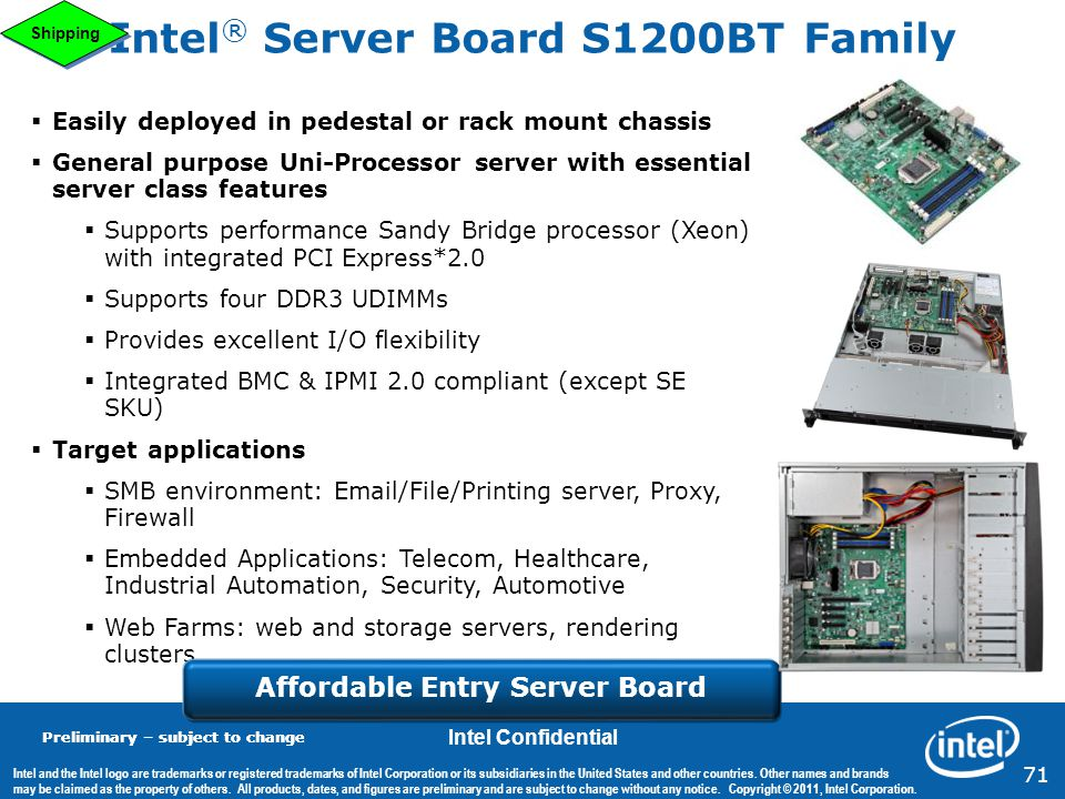 Intel® Server Board S1200BT Family