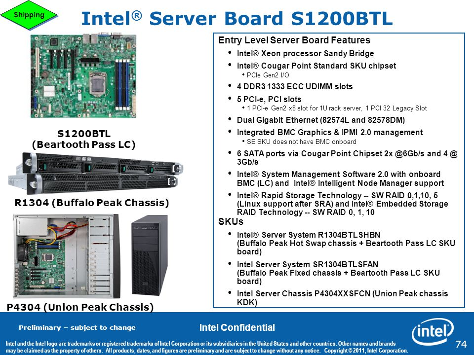 Intel® Server Board S1200BTL