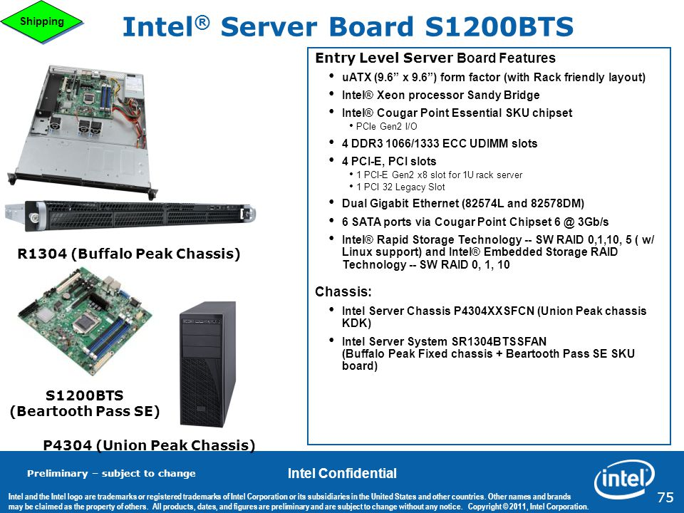 Intel® Server Board S1200BTS