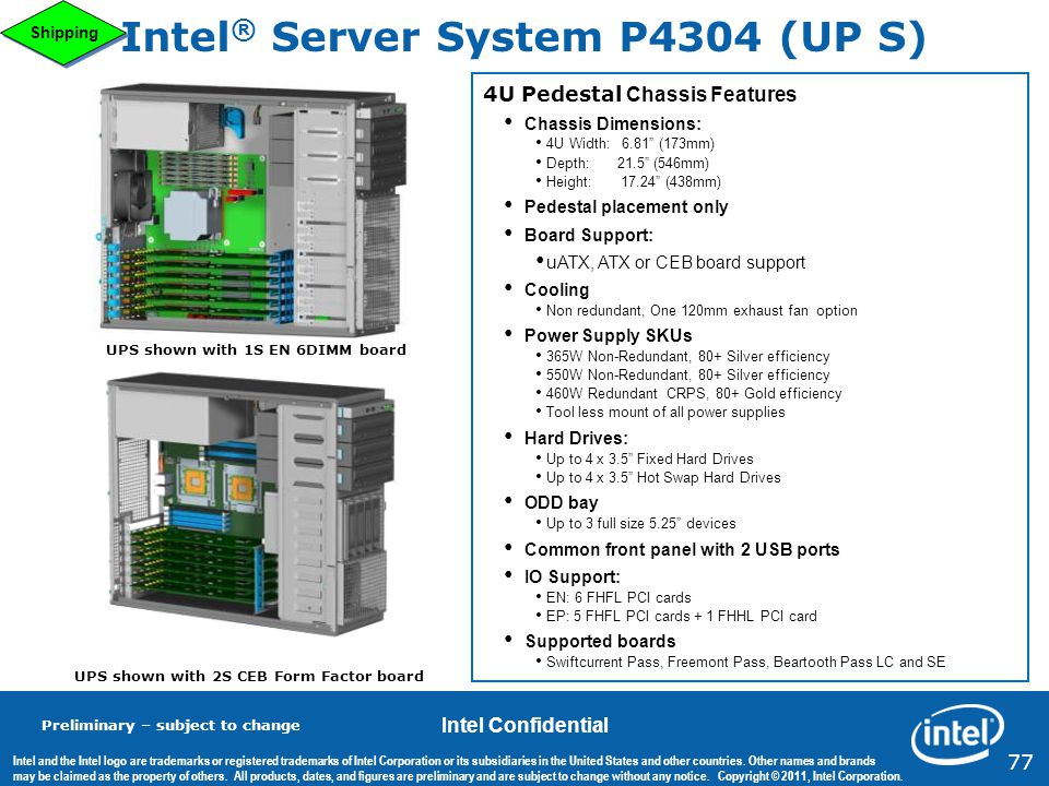 Intel® Server System P4304 (UP S)