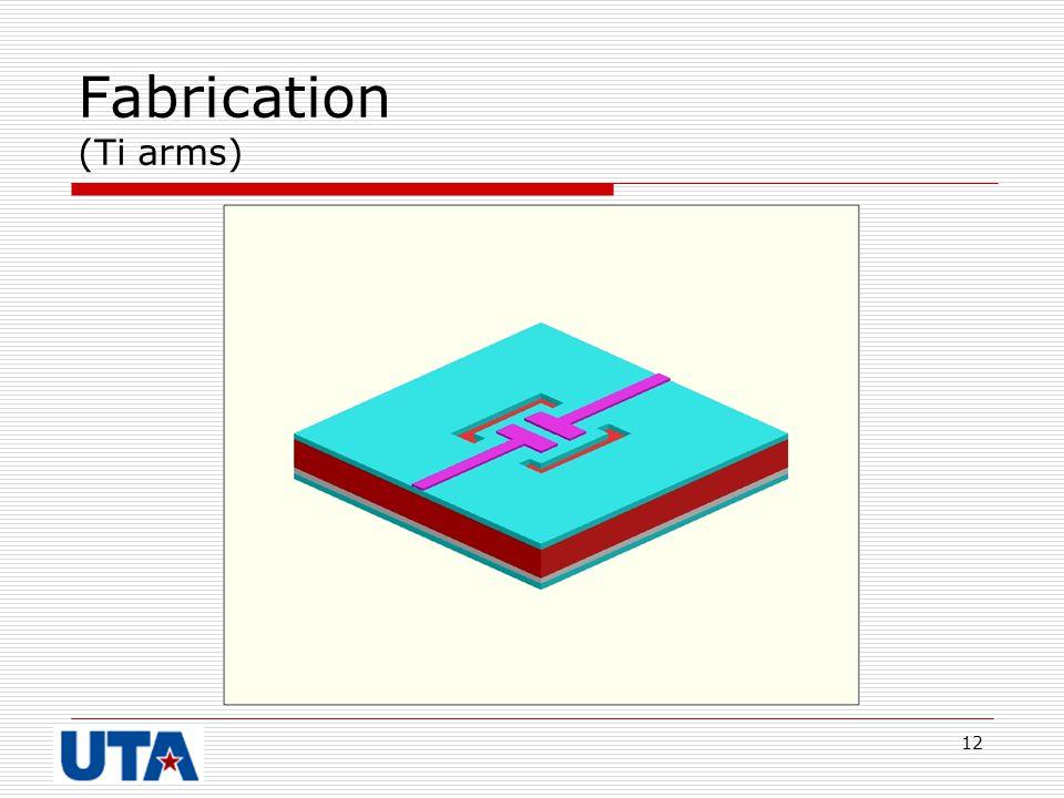 Fabrication (Ti arms)
