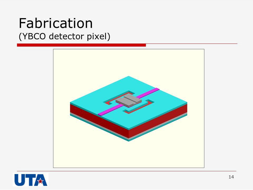 Fabrication (YBCO detector pixel)