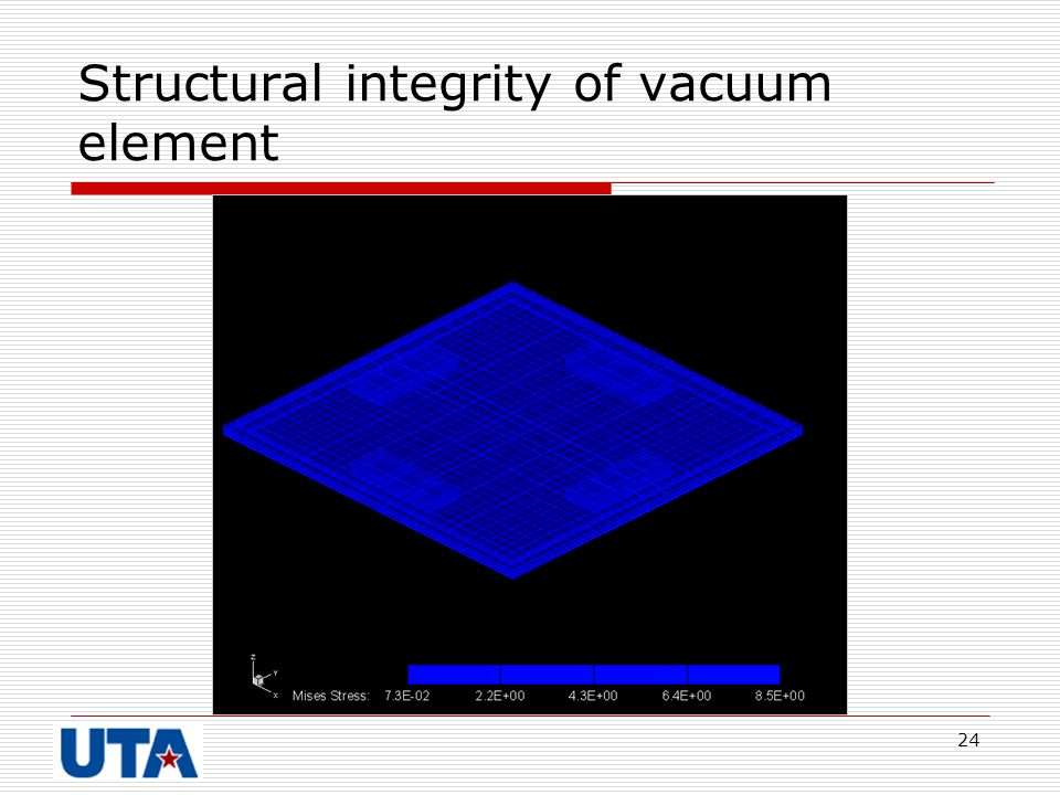 Structural integrity of vacuum element