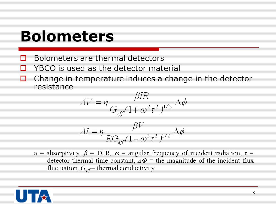 Bolometers Bolometers are thermal detectors