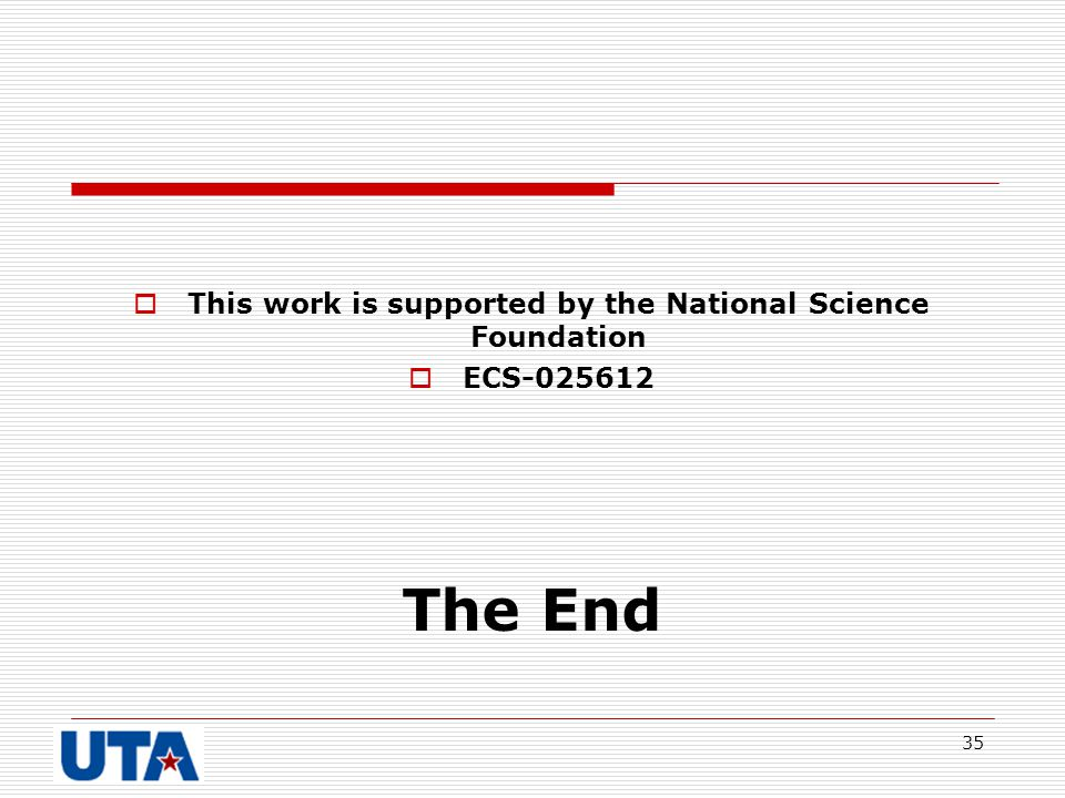 This work is supported by the National Science Foundation