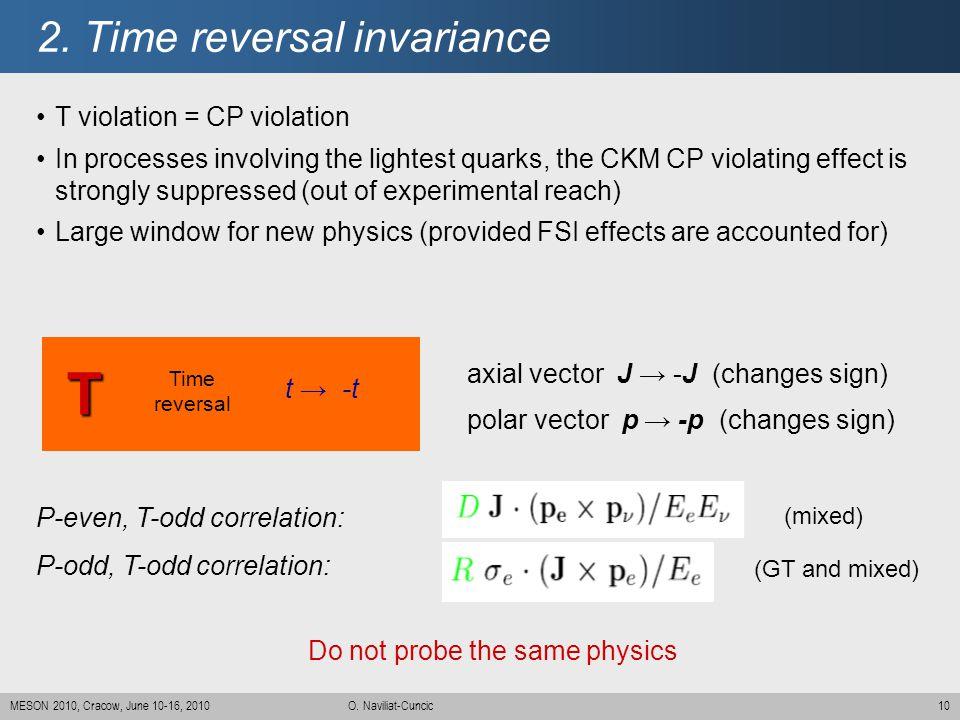 2. Time reversal invariance