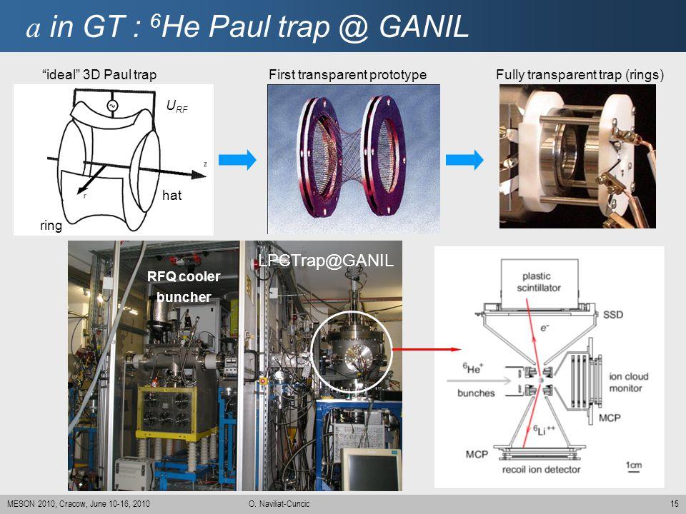 a in GT : 6He Paul trap @ GANIL