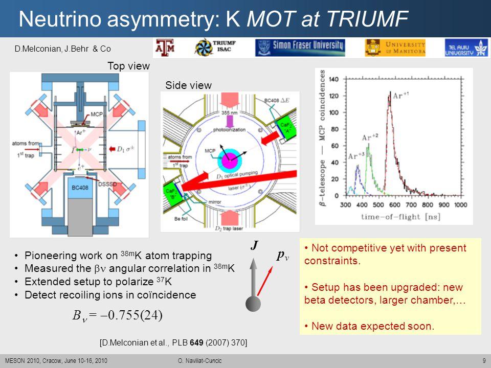 Neutrino asymmetry: K MOT at TRIUMF