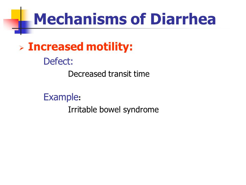 Mechanisms of Diarrhea
