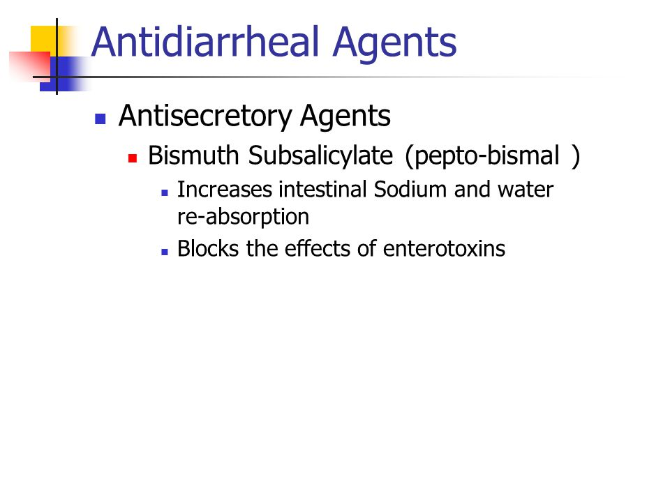 Antidiarrheal Agents Antisecretory Agents