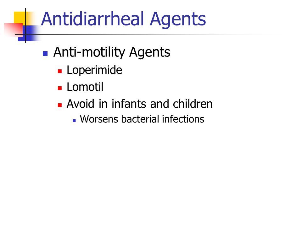 Antidiarrheal Agents Anti-motility Agents Loperimide Lomotil