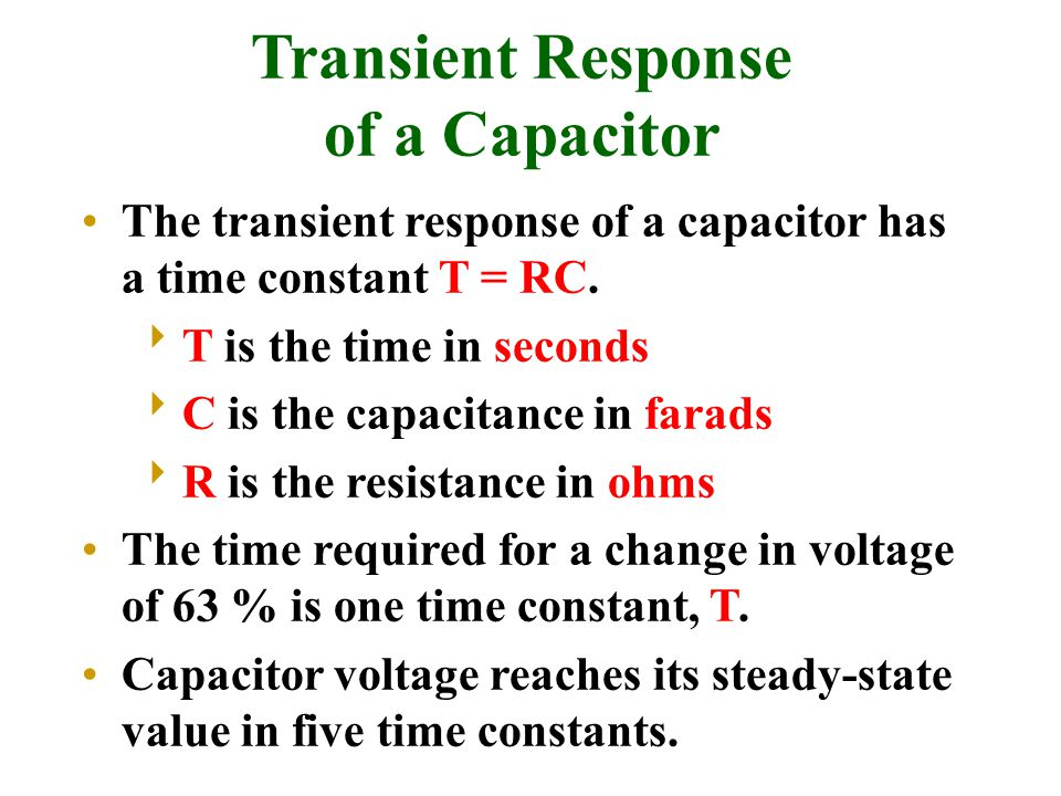 Transient Response of a Capacitor