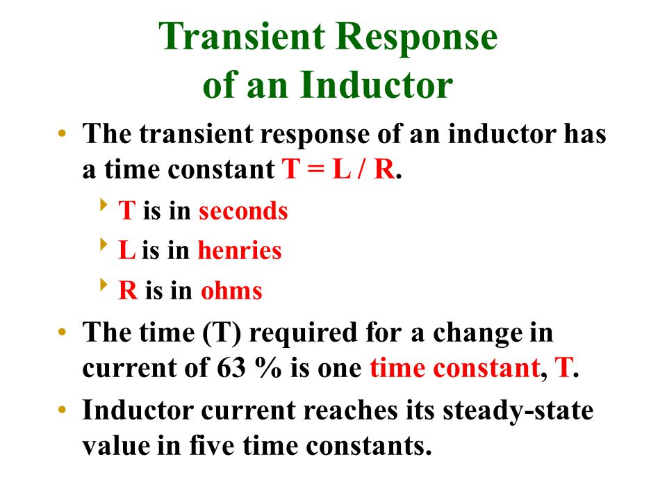 Transient Response of an Inductor