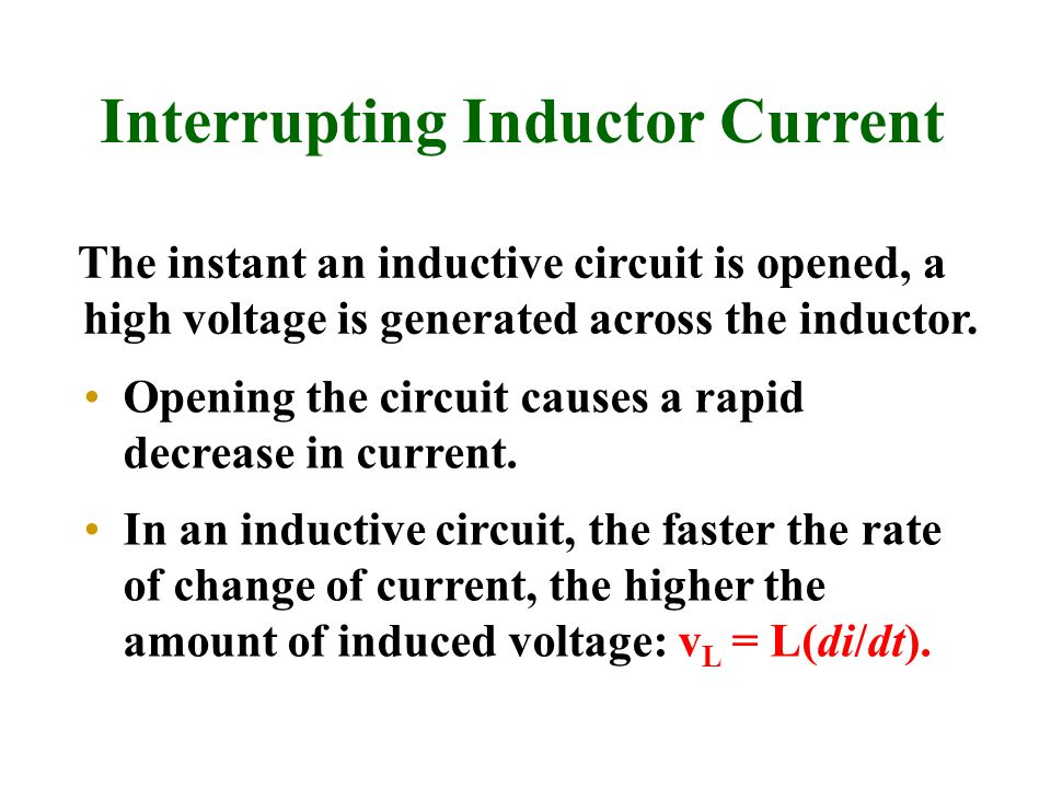 Interrupting Inductor Current