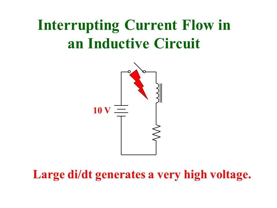 Interrupting Current Flow in an Inductive Circuit