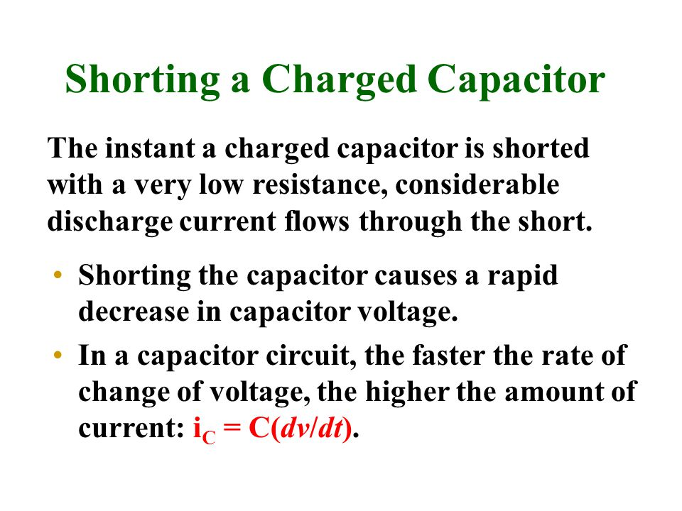 Shorting a Charged Capacitor