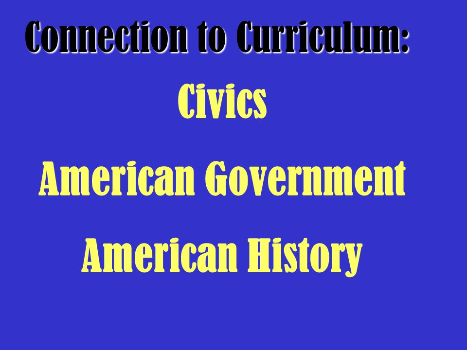 Civics American Government American History