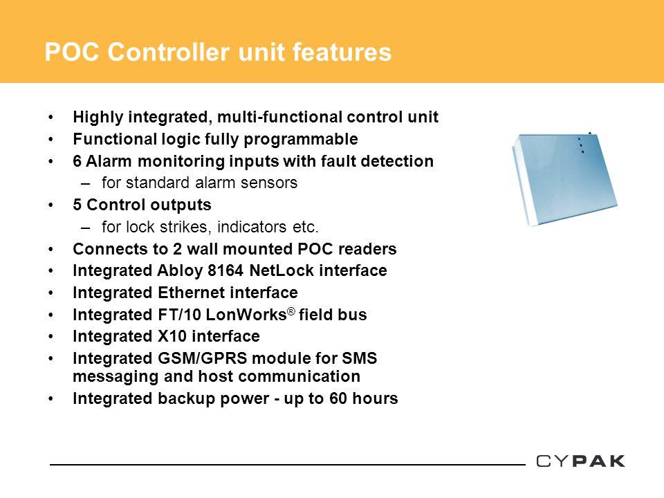 POC Controller unit features