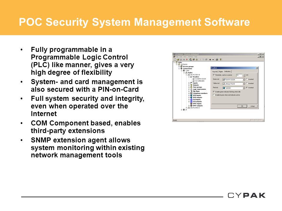 POC Security System Management Software